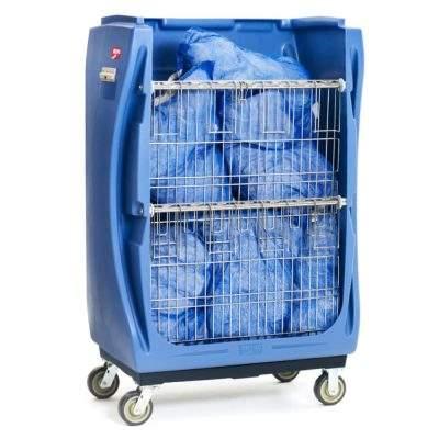 carro para lavanderia industrial dos repisas verticales 01
