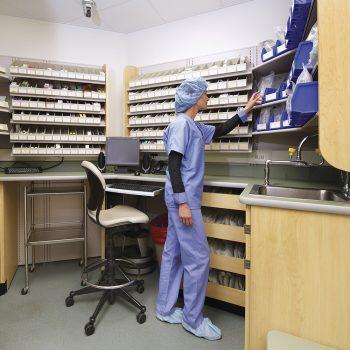 almacenamiento de farmacia estacion de recogida
