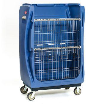 carro de ropa limpia hospitalaria repisas verticales