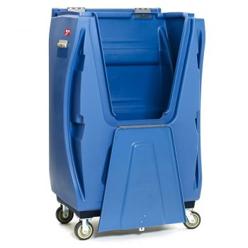 carro para lavandería industrial con puerta 01