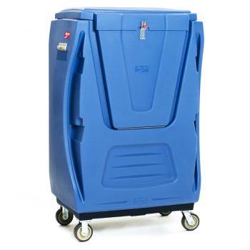 carro para lavanderia industrial con tapa