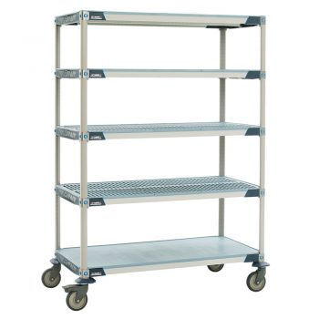 estanteria de polimero metro max i con ruedas
