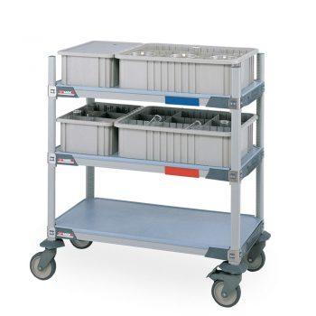estanteria de polimero metro max i ig como carro de transporte
