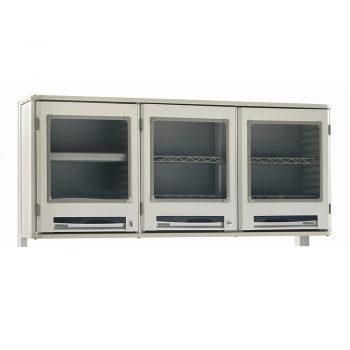 gabinetes de pared puertas transparentes