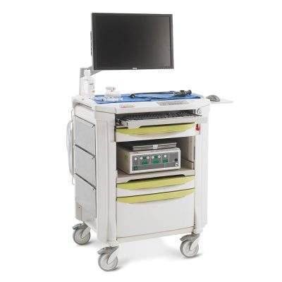 equipo de diagnostico medico carro para endoscopia flexline
