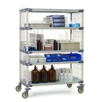 estantes de polimero metro max 4 l para laboratorios
