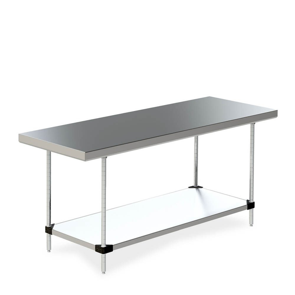 mesa de trabajo de acero inoxidable