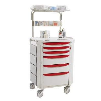 muebles hospitalarios carro para terapia intensiva flexline